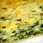 Crustless Spinach Quiche. Only 4.2 net carbs. Bake ahead of time and re-heat in the morning for a convenient breakfast!