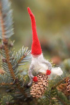 Danish elf handmafe ornament. http://www.etsy.com/listing/87699845/danish-christmas-elf-dansk-julenisse