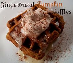 Gingerbread Pumpkin Waffles - more reason to wake up early to make breakfast before work!