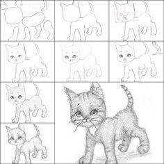 How to Draw a Kitten Easily | iCreativeIdeas.com Like Us on Facebook ==> https://www.facebook.com/icreativeideas