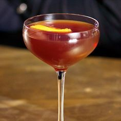Employees Only Manhattan  1.5 oz Rye whiskey  1.75 oz Sweet vermouth  .5 oz Grand Marnier  3 dashes Angostura Bitters
