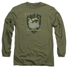 BEETLE BAILEY/ON DUTY-L/S ADULT 18/1-MILITARY GREEN