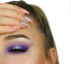 Purple Rain Makeup Tutorial by Mary Belford. Makeup Geek Eyeshadow in Hopscotch. Makeup Geek Foiled Eyeshadow in Day Dreamer.