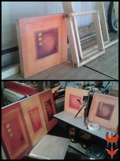 Ahora haciendo marcos para unos cuadros...