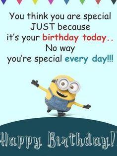 Minion Birthday Quotes, Happy Birthday Quotes For Daughter, Happy Wife Quotes, Birthday Cards For Brother, Best Friend Quotes Funny, Happy Birthday Minions, Best Birthday Quotes, Minions Quotes, Minions Minions
