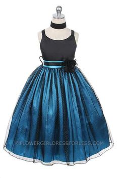 Flower Girl Dress Style 185 - Sale Turquoise Size 2 (1 Piece