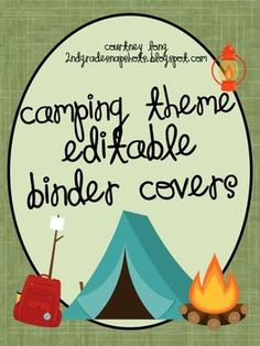 Use these binder covers to personalize your own binders or your student binders! A must have for any camping themed classroom!