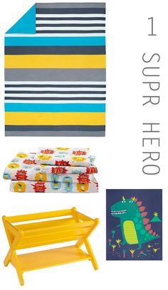Superhero: Add in quirky bold accessories and pops of yellow.