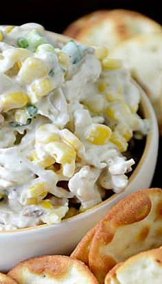 Sweet Corn and Bacon Chicken Salad/This is awesome. Put this in a wrap with some tomato ...  [substitute cream cheese and a little bit of milk for the yogurt]