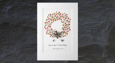 Thumb-Print Christmas Wreath Christmas Wreaths, Christmas Crafts, Christmas Tree, Thumb Prints, Book Art, December, Stationery, Art Prints, Pretty