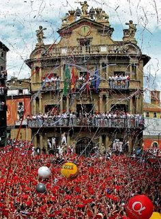 Pamplona's San Fermin is a July adventure..travel light and stay up all night - the daytime is for sleeping.