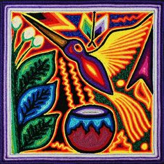 Choose from Tapestries from Peru, Woodblock Prints from Japan, Tribal Masks from Africa, and more. Classroom Art Projects, Art Classroom, Illustration Art Drawing, Art Drawings, Mexican Art Tattoos, Yarn Painting, Mexico Art, Mexican Folk Art, Bird Prints