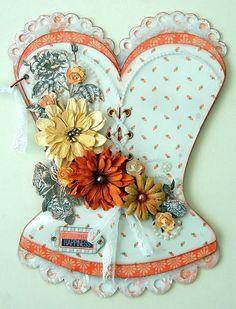 Scrapperlicious: Happiness Home Decor, acrylic corset, Clear Scraps, album, paint, art, scrapbook, alter