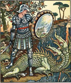 The Prince and the Dragon, by Walter Crane