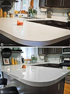 Supreme Kitchen Remodeling Choosing Your New Kitchen Countertops Ideas. Mind Blowing Kitchen Remodeling Choosing Your New Kitchen Countertops Ideas. Countertop Redo, Painting Countertops, Kitchen Countertop Materials, Diy Countertops, Spray Paint Countertops, Rustoleum Countertop, Solid Surface Countertops, Painting Cabinets, Kitchen Paint