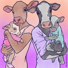 "Vegan Art by Melinda (@memememelinda) on Instagram: ""... FORGOTTEN MOTHERS ... Every year, millions of babies are stolen from their mothers…"""