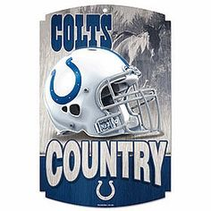 Indianapolis Colts Country Wood Sign $24.95