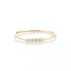 5-Diamond Pavé Ring