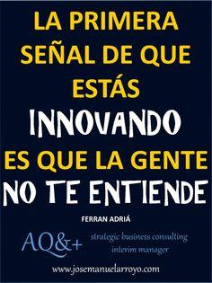 Primeras señales de la #innovación.