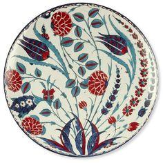 Iznik Dinner Plates, Set of 4