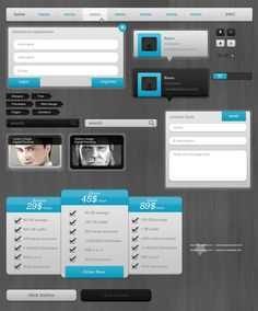 Blue PSD Package