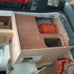Tony LeMoignan uploaded this image to 'Vivaro'. See the album on Photobucket. Camper Van Kitchen, Cool Websites, Motorhome, Kitchens, Vans, Homes, Album, Interior, Image