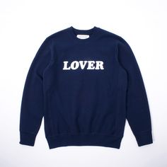 721ab4bd1aa306 Bianca Chandon Lover Flocked Crewneck Sweatshirt