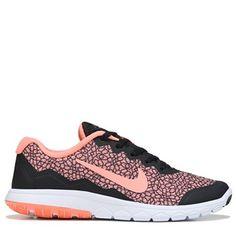 7db6690625f Nike Women s Flex Experience RN 4 Prem Running Shoes (Black Pink Print)  Running