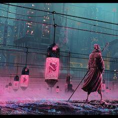 "C Y B E R P U N K  /_\  A R T on Instagram: ""Name this work? . . By David Mattiacci(artist by ArtStation).@davidmattiacci. . . #matrix #clone #syntetic #replicant #nexus #walker #city…"" Background Drawing, City Background, Character Bank, Character Design, Electric Bug, Sci Fi City, Neon Aesthetic, Futuristic Art, Digital Art Tutorial"