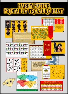 Our exclusive Harry Potter treasure hunt is a printable party game that you can play anywhere because YOU decide the hiding locations for each clue. École Harry Potter, Harry Potter Classes, Harry Potter Fiesta, Harry Potter Party Games, Harry Potter Activities, Classe Harry Potter, Harry Potter Classroom, Harry Potter Printables, Harry Potter Cosplay