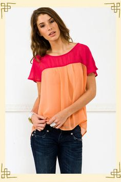 Sherbert top, Francesca's Collections only $34