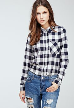 Gingham Button-Down Shirt | Forever 21 - 2049258197