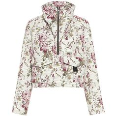 A.l.c. - Clarke Floral Jacket ($695) ❤ liked on Polyvore featuring outerwear, jackets, long white jacket, raglan jacket, flower print jacket, white jacket and floral print jacket