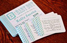 {DIY} Baby Shower Invites & Poem