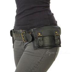 LEATHER BELT HIP BUM WAIST POUCH BAG Utility Fanny Pack Pocket Phone Travel #EyesofIndia #BeltBag #BeltBag