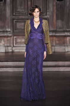 This dress is just gorgeous, from the color to the tailoring to the design.  <3  L'Wren Scott.  #NYFW