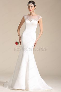 eDressit Illusion Sweetheart Neck Embroidery Wedding Gown (01151907)