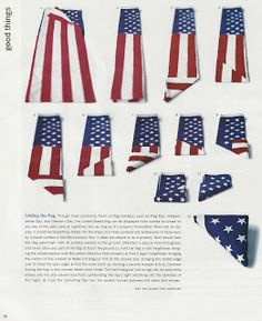proper way to fold a flag