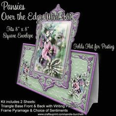 Pansies Over the Edge Mini Kit