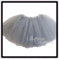 Gray Ballet Tutu Tutu On SALE Girls Gray by LillyBearCreations, $7.50