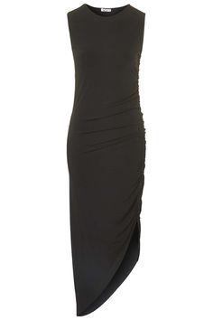 Black Rushed Dress