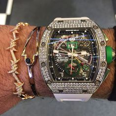 Richard Mille Roberto Mancini in Pave Diamonds case. Richard Mille, Cool Watches, Rolex Watches, Djula Jewelry, Tourbillon Watch, Hand Watch, Watch 2, Expensive Watches, Elegant Watches
