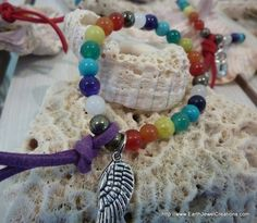 $35 - Kids Chakra Bracelet - Inspirational handmade gemstone jewellery Earth Jewel Creations Australia