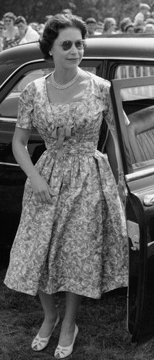 Queen Elizabeth II at Windsor Great Park to watch a polo match in 1960.