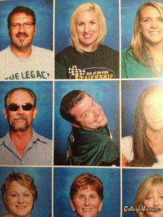 This teacher who's mastered the over-the-right-shoulder look. | 22 Teachers Who Know How To Take A Yearbook Photo