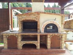 Outdoor Kitchen Grill, Pizza Oven Outdoor, Outdoor Dining, Backyard Patio, Backyard Landscaping, Brick Grill, Wood Pizza, Oven Design, Grill Oven