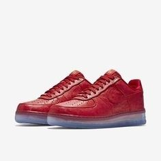 06207018a8baf Nike Air Force 1 Comfort Lux Low Red Ostrich Leather CMFT 805300-600 Size  11.5