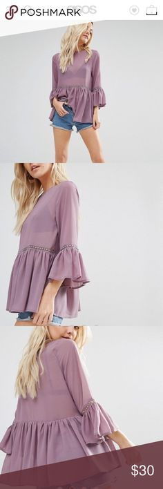 ASOS Blouse New with tags. True color is lilac. Have to sell this because it doesn't fit my breast :( Asos Tops Blouses