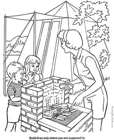 These Free Printable Camping Coloring Pages Sheets And Pictures Are Fun For Kids