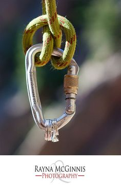 Ring shot with carabiner   http://www.raynamcginnisphotography.com  #Rockclimbing #RaynaMcGinnisPhotography